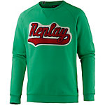 REPLAY Sweatshirt Herren grün