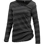 iriedaily Asym Stripe 4 Langarmshirt Damen schwarz/weiß