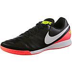 Nike TIEMPOX GENIO II LEATHER IC Fußballschuhe Herren schwarz/orange