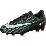 Nike JR MERCURIAL VAPOR XI FG Fußballschuhe Kinder schwarz/grün