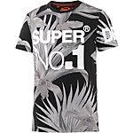 Superdry T-Shirt Herren schwarz/grau
