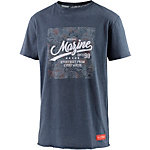 Mazine T-Shirt Herren blau meliert