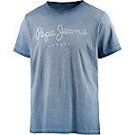 Pepe Jeans T-Shirt Herren blau washed