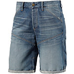 G-Star 5621 3D Jeansshorts Herren blue washed denim