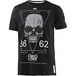 Crosshatch T-Shirt Herren schwarz