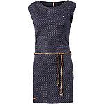 Ragwear Jerseykleid Damen dunkelblau gepunktet