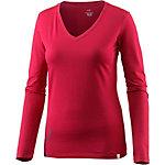 Arcteryx Maple V-Neck LS T-Shirt Damen flamenco