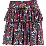 Maui Wowie Stufenrock Damen dunkelblau/apricot/rot