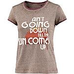Khujo T-Shirt Damen braun melange