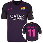 Nike FC Barcelona 16/17 Auswärts Neymar Fußballtrikot Herren lila / schwarz / pink