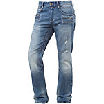 M.O.D Pierre Straight Fit Jeans Herren destroyed denim