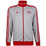 adidas FC Bayern München 3-Streifen Trainingsjacke Herren grau / rot