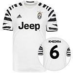 adidas Juventus Turin 16/17 3rd Khedira Fußballtrikot Herren weiß / schwarz