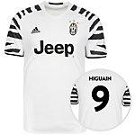 adidas Juventus Turin 16/17 3rd Higuaín Fußballtrikot Herren weiß / schwarz