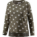 Only Sweatshirt Damen oliv