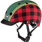 Nutcase Lumberjack Fahrradhelm rot/grün kariert