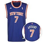 adidas NY Knicks Replica Anthony Basketball Trikot Herren blau
