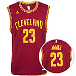 adidas Cleveland Cavaliers James Replica Basketball Trikot Herren rot / gelb