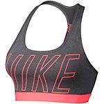 Nike Pro Classic Logo Read Sport-BH Damen grau/neonpink