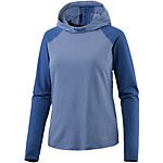 Under Armour Threadborne Run Laufhoodie Damen blau/petrol/melange