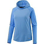 Under Armour Threadborne Run Laufhoodie Damen blau/melange