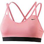 Nike Pro Indy Strappy Sport-BH Damen rosa/schwarz