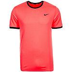 Nike Court Dry Tennisshirt Herren neonorange / schwarz