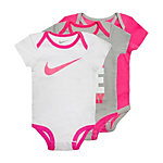 Nike Swoosh Baby Body Mädchen pink / weiß / grau