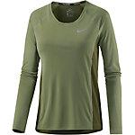 Nike Miler Laufshirt Damen oliv