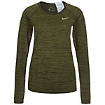 Nike Dri-FIT Knit Funktionsshirt Damen oliv / schwarz