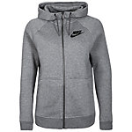 Nike Rally Sweatjacke Damen grau / schwarz