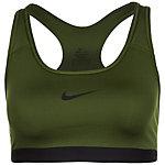 Nike New Nike Pro Classic Sport-BH Damen oliv / schwarz