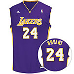 adidas LA Lakers Bryant Replica Basketball Trikot Herren lila / gold