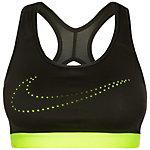 Nike Pro Classic Cooling Sport-BH Damen dunkelgrün / gelb