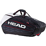 HEAD Djokovic 12R Monstercombi Tennistasche schwarz/weiß