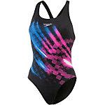 SPEEDO Ignitor Placement Powerback Schwimmanzug Damen schwarz/pink/blau