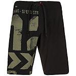 Reebok Printed Board Shorts Herren schwarz / grün