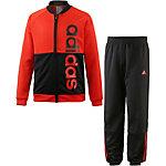 adidas Trainingsanzug Jungen orange/schwarz