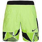 Nike Court Dry Tennisshorts Herren lime / schwarz