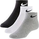 Nike Lightweight Quarter Socken Pack schwarz/weiß/grau