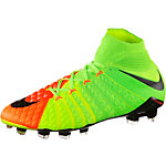 Nike HYPERVENOM PHANTOM III FG Fußballschuhe Herren neongrün/orange