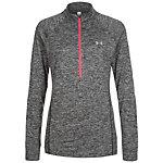 Under Armour HeatGear Tech 1/2 Zip Twist Funktionsshirt Damen grau / pink