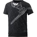 adidas Printshirt Jungen schwarz