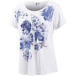 Deha T-Shirt Damen weiß/blau