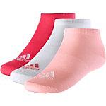 adidas Socken Pack Kinder rot/weiß/rosa