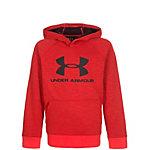 Under Armour ColdGear Sportstyle Hoodie Kinder rot / schwarz