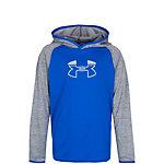 Under Armour HeatGear Tech Block Hoodie Kinder blau / grau