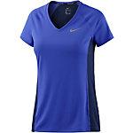 Nike Miler Laufshirt Damen blau