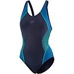 SPEEDO Fit Splice Muscleback Schwimmanzug Damen navy/jade