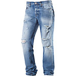 Jack & Jones Mike Loose Fit Jeans Herren destroyed denim